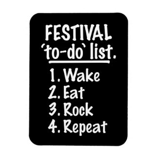Festival 'to-do' list (wht) magnet