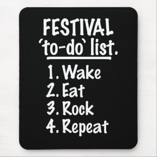 Festival 'to-do' list (wht) mouse pad