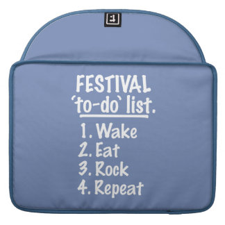 Festival 'to-do' list (wht) sleeve for MacBook pro