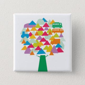 Festival Tree 15 Cm Square Badge