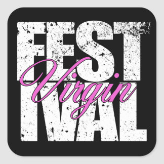 Festival Virgin (wht) Square Sticker