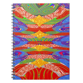 Festivals Alien UFO Colorful Docking Station FUN Spiral Notebook