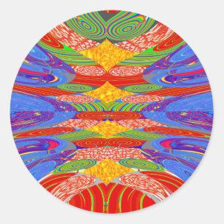 Festivals Alien UFO Colorful Docking Station FUN Round Sticker