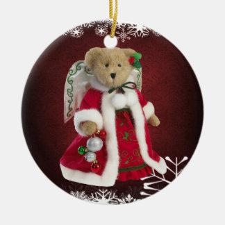 Festive Angel Teddy Bear Ornament
