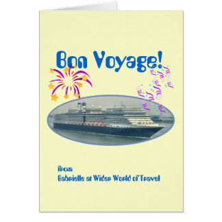 Festive Bon Voyage  Custom Card