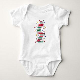 Festive Book Stack Baby Bodysuit