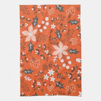 Festive Botanical Holiday Kitchen Towel
