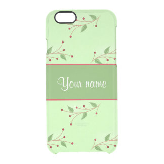 Festive Branches and Berries Clear iPhone 6/6S Case