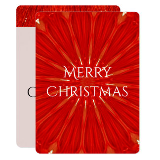 Festive Bright Red Christmas Lights Kaleidoscope Card