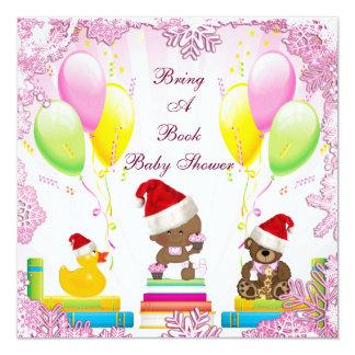 Festive Bring a Book Ethnic Baby Girl Baby Shower Invite