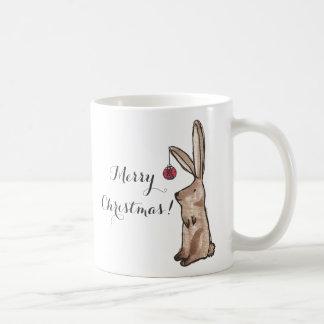 Festive Bunny Merry Christmas Mug
