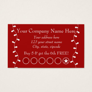 Festive Business Promotional Punch Card
