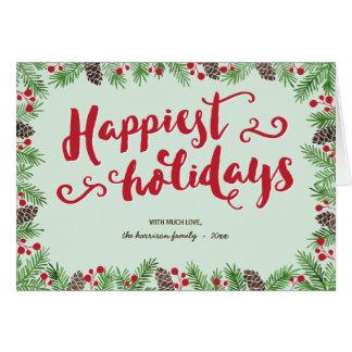Festive Calligraphy | Folded Holiday Non-Photo Card