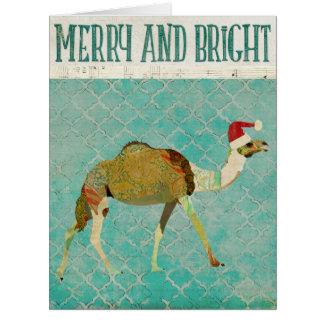 Festive Camel Christmas Card