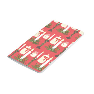 Festive Candles Print Red Journal