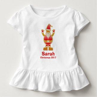 Festive Cartoon Santa Gingerbread Cookie Customize Toddler T-Shirt