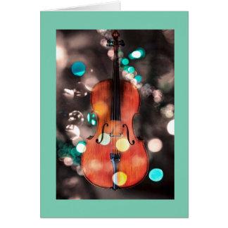 Festive Cello holiday card