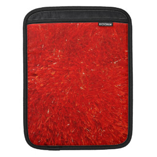 Festive Chic Bright Red Color Pattern iPad Sleeve
