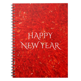 Festive Chic Bright Red Color Pattern Notebook