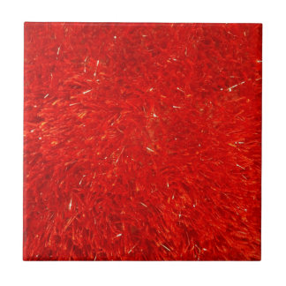 Festive Chic Bright Red Color Pattern Small Square Tile
