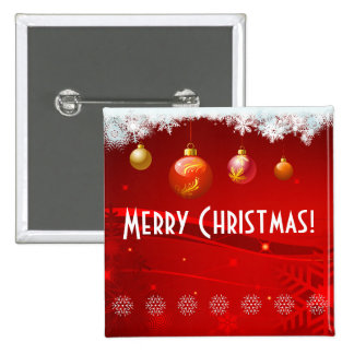 Festive Christmas Decor 15 Cm Square Badge