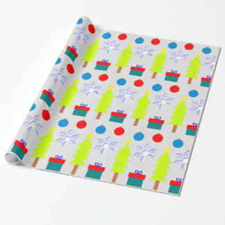 """Festive christmas Dream """"Trees Snowflakes..."""" wrap Wrapping Paper"""