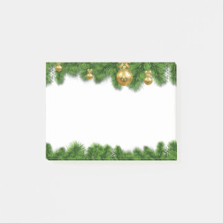Festive Christmas Garland Wreath Post-It Notes