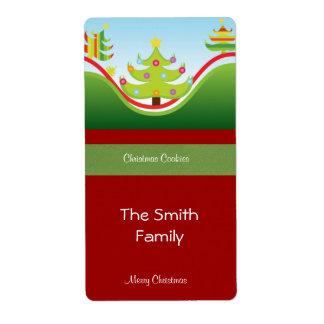Festive Christmas Gift Label