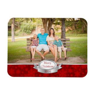 Festive Christmas Greeting Custom Photo Magnet