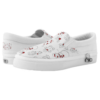 Festive Christmas Holiday pattern womens shoes