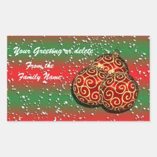 Festive Christmas ornament n snow Sticker