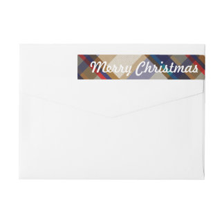Festive Christmas Plaid Skinny Labels