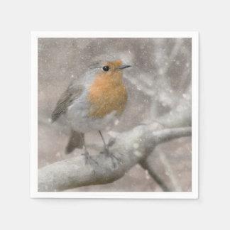 Festive Christmas Robin Napkins Paper Serviettes