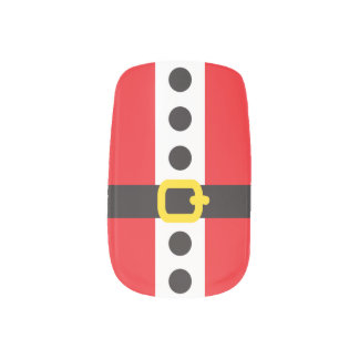 Festive Christmas Santa Claus Suit Nail Stickers