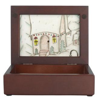 Festive Christmas scene Keepsake Box