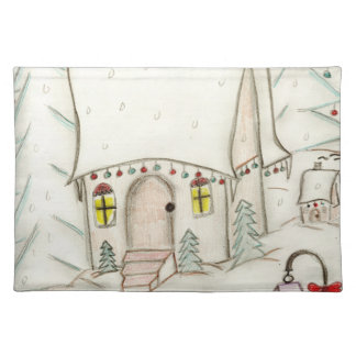 Festive Christmas scene Placemat