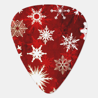 Festive Christmas snowflakes Guitar Pick