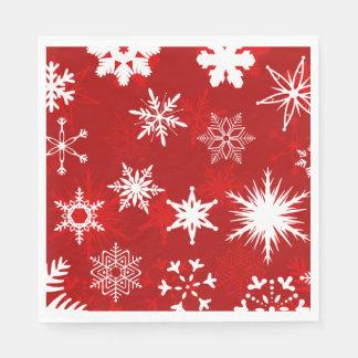 Festive Christmas snowflakes Paper Serviettes