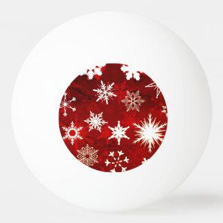 Festive Christmas snowflakes Ping Pong Ball