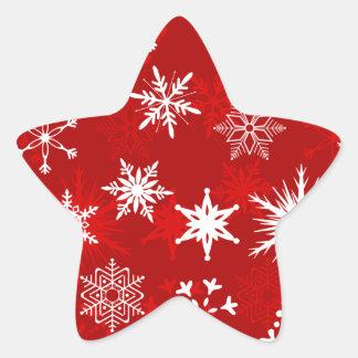 Festive Christmas snowflakes Star Sticker
