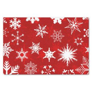 Festive Christmas snowflakes Tissue Paper