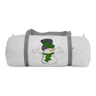 Festive Christmas Snowman Cartoon Gym Bag