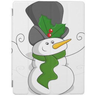 Festive Christmas Snowman Cartoon iPad Cover