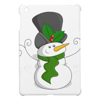Festive Christmas Snowman Cartoon iPad Mini Covers