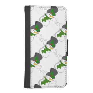 Festive Christmas Snowman Cartoon iPhone SE/5/5s Wallet Case