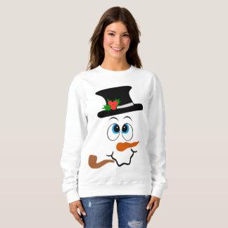 Festive Christmas snowman face sweatshirt