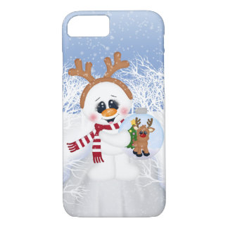 Festive Christmas snowman Holiday iPhone 8/7 case