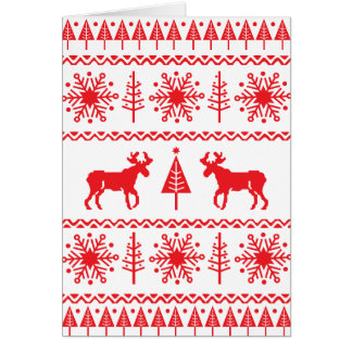 Festive Christmas Sweater Pattern Card