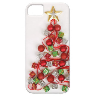 Festive Christmas Tree iPhone 5 Cases