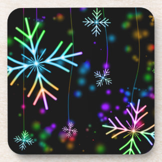 Festive Christmas Winter Snowflakes Coasters